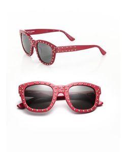 Saint Laurent | Sl 100 Lou 48mm Studded Soft Square Sunglasses