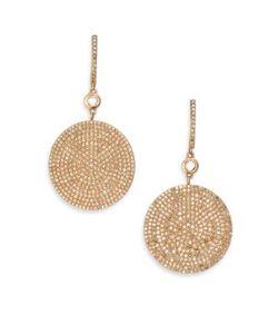 Astley Clarke | Icon Pave Light Grey Diamond 14k Drop Earrings