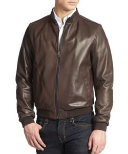 Salvatore Ferragamo | Reversible Leather Bomber Jacket
