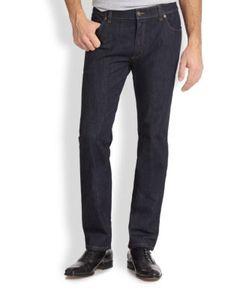 Salvatore Ferragamo   Five-Pocket Straight-Leg Jeans