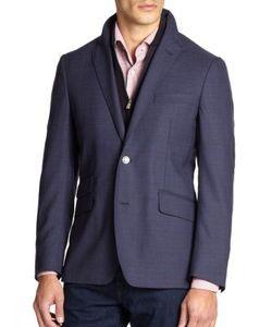 Corneliani | Id Plaid Wool Zip-Out Vested Sportcoat
