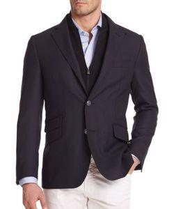 Corneliani | Solid Virgin Wool Sportcoat