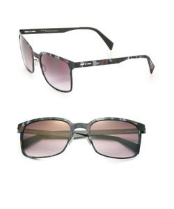 Italia Independent | I-Metal 52mm Rectangle Sunglasses