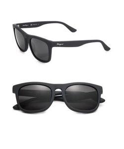Salvatore Ferragamo | 54mm Matte Wayfarer Sunglasses