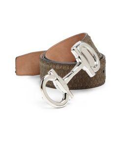 Salvatore Ferragamo | Python-Lined Leather Belt