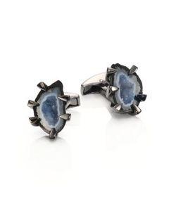 Tateossian | Geode Crystal Cuff Links