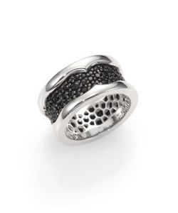 Stephen Webster | Sterling Silver And Black Sapphire Ring