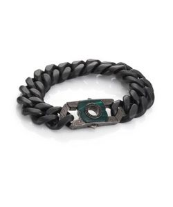 Stephen Webster | Black Sapphire Malachite Sterling Silver Clasp
