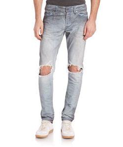 John Elliott   Distressed Slim-Fit Jeans