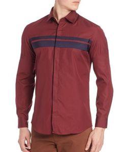 Salvatore Ferragamo | Grosgrain Stripe Sport Shirt