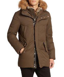Mackage | Fur-Trim Hip-Length Down Jacket