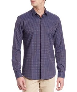 Salvatore Ferragamo | Jacquard Casual Button-Down Shirt