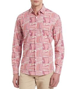 Salvatore Ferragamo | Exploded Sailboat Print Button-Down Shirt