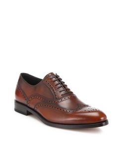 Salvatore Ferragamo | Gerard Wingtip Brogue Calfskin Leather Dress Shoes