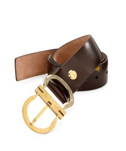 Salvatore Ferragamo | Paint Splatter Leather Belt