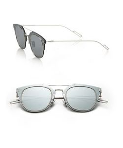 Dior Homme | Composit 62mm Round Sunglasses
