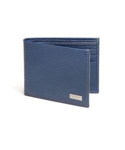 Salvatore Ferragamo   Revival Textured Leather Billfold Wallet