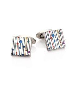 Tateossian | Color Titanium Square Cuff Links