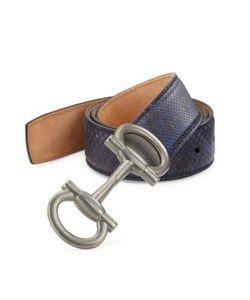Salvatore Ferragamo | Karung Leather Belt