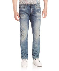 Prps | Distressed Mild Washed Straight-Fit Jeans