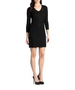M Missoni | Three-Quarter-Sleeve Knit Dress