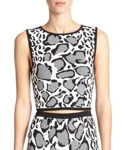 Ohne Titel | Reversible Leopard-Print Crop Top