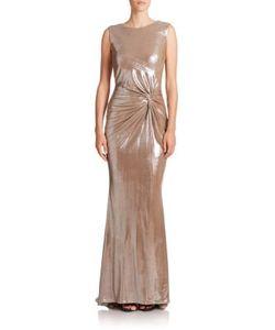 Talbot Runhof | Metallic Twist-Front Gown