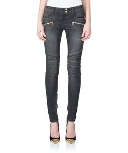 Balmain | Stretch Cotton Moto Jeans