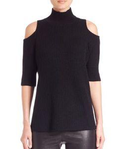 Zoe Jordan | Knitlab Gondola Cold-Shoulder Turtleneck Sweater