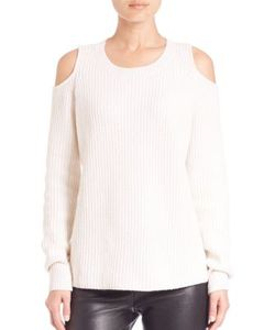 Zoe Jordan | Knitlab Hawking Cold-Shoulder Sweater