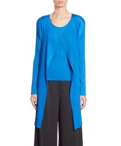 Pleats Please By Issey Miyake | Long Open-Front Cardigan