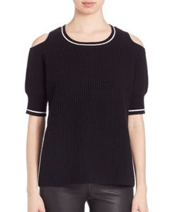 Zoe Jordan | Mayer Wool Cashmere Cold-Shoulder Sweater