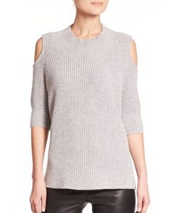 Zoe Jordan | Gondola Wool Cashmere Cold-Shoulder Sweater