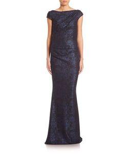 Talbot Runhof | Jersey Boatneck Gown