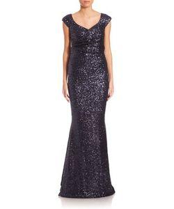 Talbot Runhof | Sequin V-Neck Gown