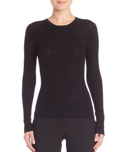 Michael Kors Collection | Ribbed Cashmere Crewneck Sweater