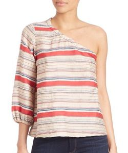 Tanya Taylor | Elsa Striped One-Shoulder Top