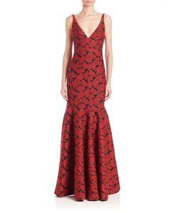 J. Mendel | Paneled Sirene-Skirt Gown