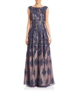 Aidan Mattox | Boatneck Lace Long Dress