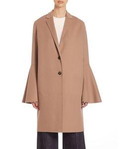 Derek Lam   Virgin Wool Bell Sleeve Coat