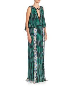 Mary Katrantzou   Green Fairnburn Gown