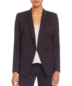 The Kooples | Oversize Stretch Tuxedo Jacket
