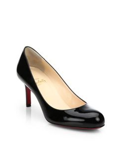 CHRISTIAN LOUBOUTIN | Simple Patent Leather Pumps