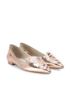 Sophia Webster | Bibi Butterfly Metallic Leather Flats