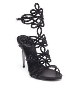 Rene Caovilla | Swarovski Crystal-Embellished Satin Sandals