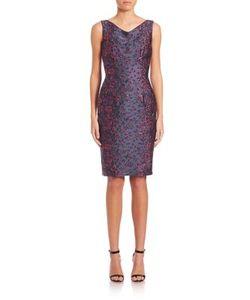 Talbot Runhof | Sleeveless Brocade Sheath Dress