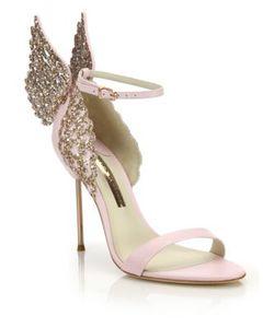Sophia Webster | Evangeline Embellished Winged Leather Sandals