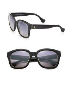 Balenciaga | 52mm Square Acetate Metal Sunglasses