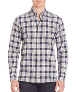 Ovadia & Sons | Cotton-Blend Plaid Shirt