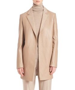Ralph Lauren Collection | Addison Bonded Leather Coat
